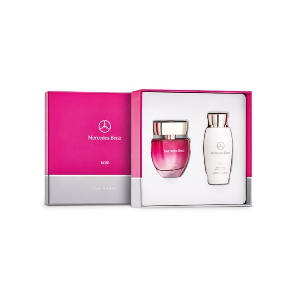 Coffret parfum femme rose Mercedes-Benz collection Groupe Chevalley Suisse