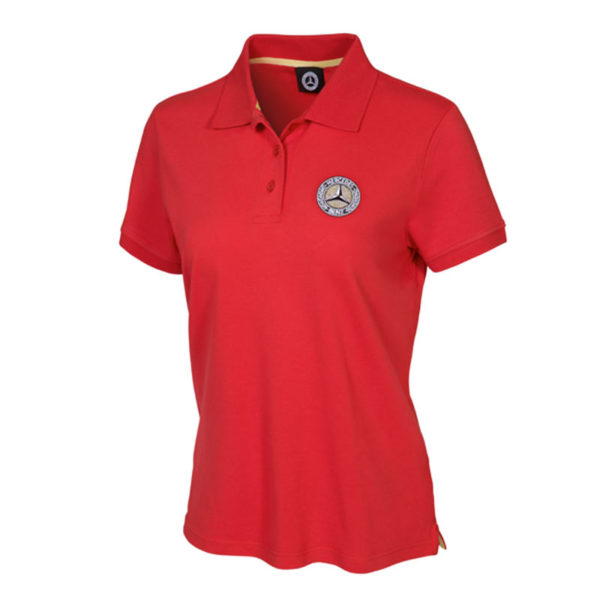 Polo femme Mercedes-Benz rouge